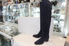 As New - Chloe Grace Over the Knee Black Suede Boots EUR 40
