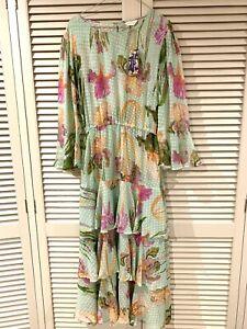 "New! Versatile GORMAN ""Iris Upon"" Silk Dress -  size 16"