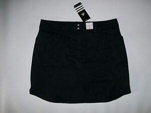 ADIDAS Golf Updated Fit 3 Stripe BLACK Golf SKORTS skort Womens Size 0 $70 NEW