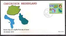 Caribisch Nederland FDC Nummer E 1