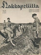 Finland Wartime Magazine Hakkapeliitta 1944 #21 WWII Soldiers planting potatoes