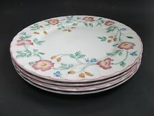 Churchill Staffordshire Pink Briar Rose Dinner Plates Fine English Tableware (4)