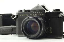 PENTAX SPOTMATIC SP BLACK w/ SMC TAKUMAR 50mm F/1.4 STANDARD LENS KIT 35mm SLR