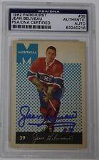 JEAN BELIVEAU SIGNED 1962 PARKHURST MONTREAL CANADIENS HOCKEY CARD PSA/DNA