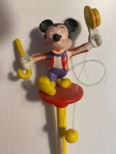 New listing Vintage 1990 Disney Applause Mickey Mouse Hat Cane Ball Pencil Topper and Pencil