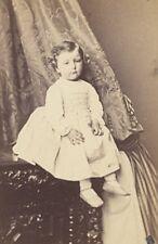 Baby Fashion Nurse behind Tapestry Paris CDV Photo 1865