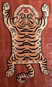 Tibetan Tiger Rug With 100% Woolen, 2x3 feet for Home Décor