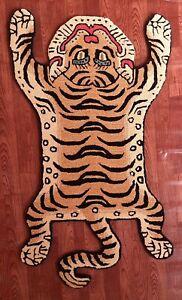 Tibetan Tiger Rug With 100% Woolen, 2x3 feet for Home Décor