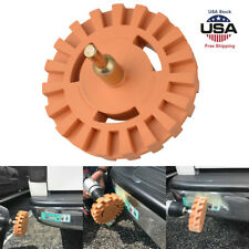 4'' Rubber Eraser Wheel Kit Decal Car Vehicle Stickers Caramel Pneumatic Removal