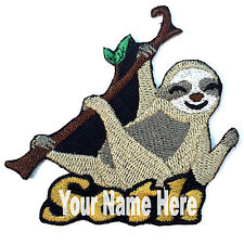 Sloth Custom Iron-on Patch With Name Personalized Free