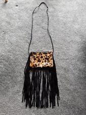 TOPSHOP Real Suede Leopard & Black Shoulder / Crossbody Bag
