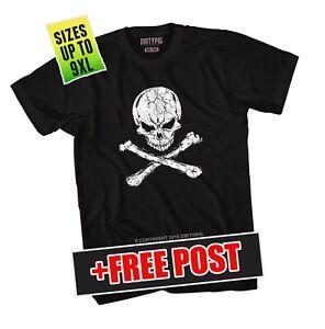 Skull Crossbones Big Mens Shirt L/XL/2XL/3XL/4XL/5XL/6XL/7XL/8XL/9XL