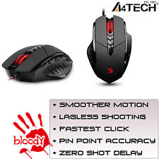 A4Tech Gaming Mouse Wired Multi-Core GUN3 V7M LED Optical 3200DPI COMPUTER PC