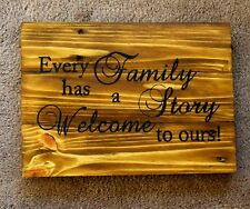 Handmade Reclaimed Pallet Sign Every Family Theme A4 Size Hand Painted Plaque