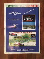 POSTER MANIFESTO 1995 LOTTERIA NAZIONALE,FORMULA 1 G.PREMIO SAN MARINO IMOLA CAR