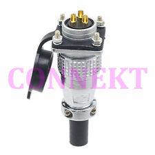 M20 20mm 3 Pin screw type Electrical Plug socket flange waterproof Connector