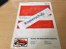 Volkswagen Kübelwagen Typ 181,  Terotex Hohlraumversiegelungsplan