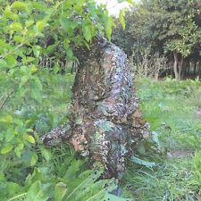 3D Ropa de Camuflaje Militar Caza Entrenamiento Sniper Ghillie Suit W Bolsa de transporte