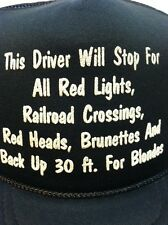 Snapback Hat Trucker Driver Stop Red Lights Red Heads Back Up For Blondes