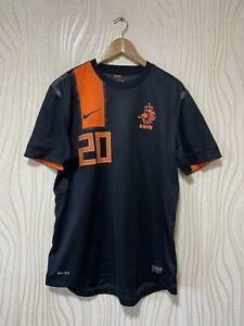 NETHERLANDS 2012 2013 AWAY FOOTBALL SHIRT SOCCER JERSEY NIKE PLAYER ISSUE #20
