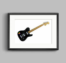Thom Yorke's 1972 Telecaster Deluxe Guitar Poster a1 Print Size