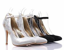 Pointed Toe Side Buckle Rhinestones Sexy Dress High Heel Sandals Womens Shoes