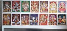 Ganesh Kali Durga Rama Shiva Laksmi Hanuman Krishna 14 Posters 5x7 Golden Effect