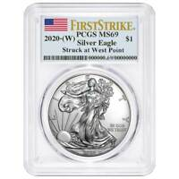Presale - 2020 (W) $1 American Silver Eagle PCGS MS69 First Strike Flag Label