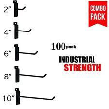 Black Slatwall Hooks Combo Pk Of 100 Assorted Sizes20 Of Ea 246 8 Amp10