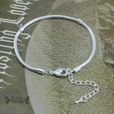 5pcs Bamoer Silver Snake Chain Bracelet Lobster clasp Can Add Charm Bead Jewelry