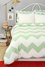 Urban Outfitters Twin Xl Duvet Cover Zigzag Assembly Home Mint Green No Shams