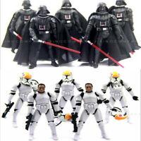 "LOT 5PCS Star Wars 2005 Clone Pilot TROOPER/Darth Vader 3.75"" Action Figure Toy"