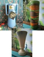 HAEGER POTTERY USA VASES BLUE WITH TAG - GREEN BROWN ORANGE -PICK 1