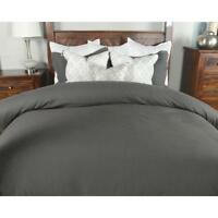 100% Egyptian Cotton T200 Duvet Cover Or Fitted Sheet Pillow case Charcoal Grey