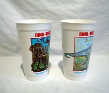 VTG 7-11 Super Slurpee Plastic Cups Dino-Might The Discovery Center Dinosaurs