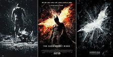 Justice League BATMAN THE DARK KNIGHT RISES BANE FINAL - LOGO Movie Poster SET