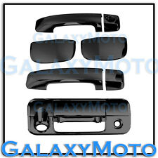 07-13 TOYOTA TUNDRA DOUBLE CAB Black Chrome 4 Door Handle+Tailgate Camera Cover