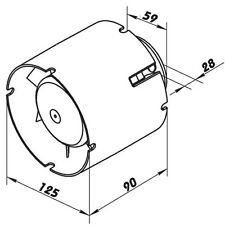 Rohrlüfter Rohrventilator Einschublüfter Badlüfter mit Kugellager TURBO Motor