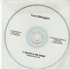 (DD506) Tom Billington, Devil's In The Detail - DJ CD