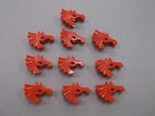 LEGO Red Horse Armor Lot of 10 - Castle Kingdom Knight minifig accessory