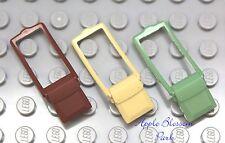 NEW Lego Minifig Lot/3 SATCHEL -Purse/Shoulder Bag Pack Sand Green Brown Tan Set