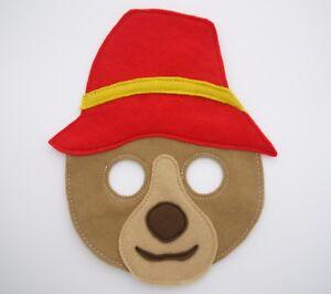 Bear mask world zoom party costume boys girls gift party kids adult paddington