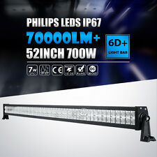 "52INCH 700W LED WORK LIGHT BAR SPOT&FLOOD DRIVING OFFROAD BAR ATV UTE 4WD 50""54"""