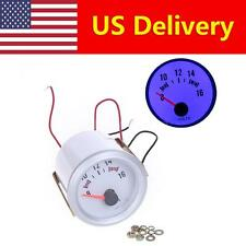 "DIGITAL 2"" 52MM LED VOLT VOLTAGE METER GAUGE VOLTMETER BOAT CAR AUTO BLUE 8-16V"