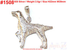 #1508 Dog Puppy Animal  Bone Charm Sterling Silver Jewelry Pendant Necklace