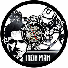 Repurposed Vinyl Record Clocks and Wall Art -  IronMan-2
