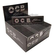 OCB Black Premium King Size Slim Box Smoking Cigarette Rolling Rizla Paper
