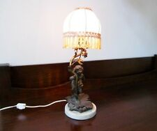 ANTIQUE DECO SIGNED FRENCH AUGUSTE AUG MOREAU LAMP