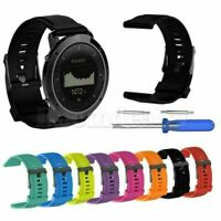 Replacement Silicone Wristwatch Band Strap For Suunto Traverse / Alpha GPS Watch