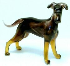 "HAND BLOWN ""MURANO"" GLASS COLLECTABLE  MANCHESTER TERRIER  DOG  FIGURINE"